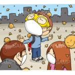 花粉症のイメージイラスト