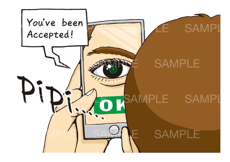 生体認証のイメージイラスト