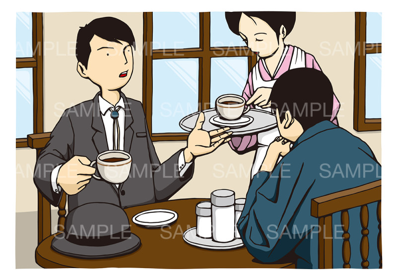 喫茶店の日のイメージイラスト