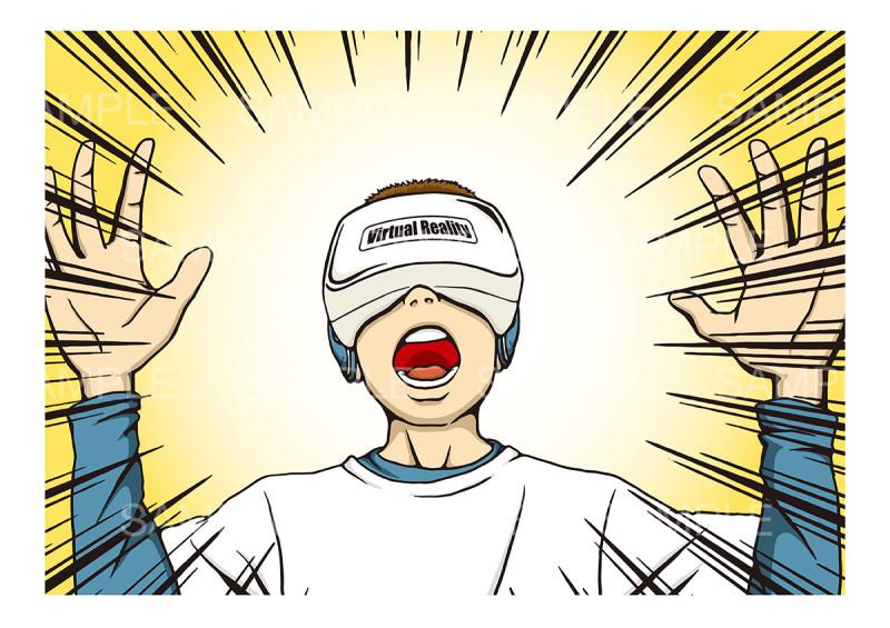 〝VR〟のイメージイラスト