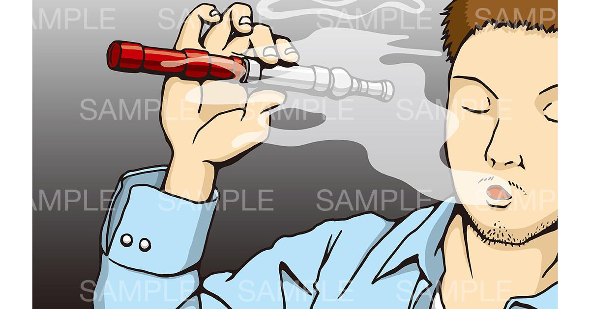 〝電子タバコ〟のイメージイラスト