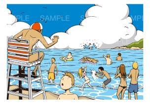 「水難事故」のイメージイラスト