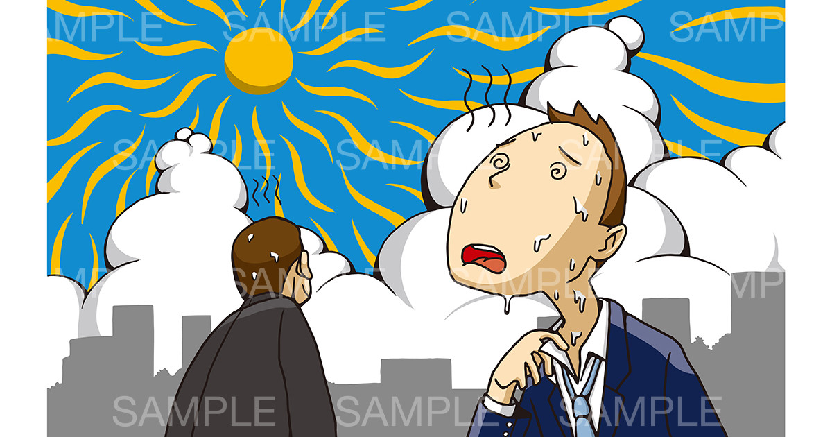 「熱中症」のイメージイラスト