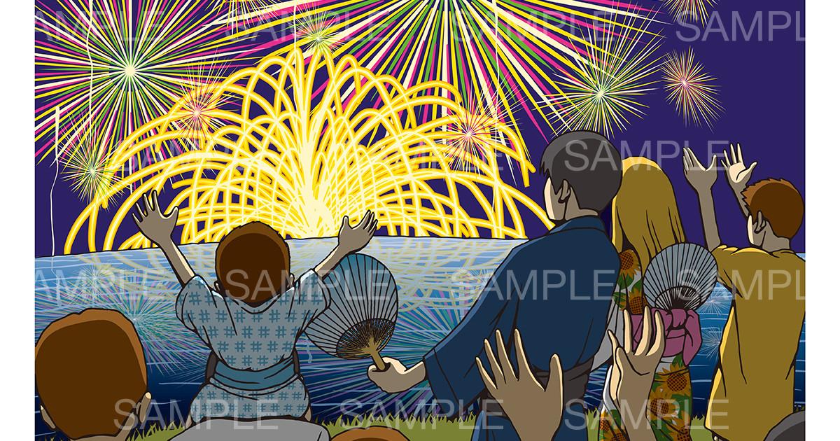 「花火大会」のイメージイラスト