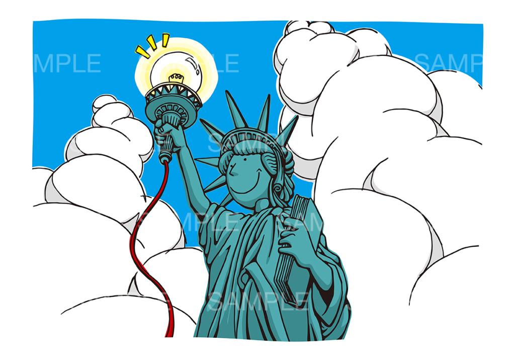 電飾自由化のイメージイラスト