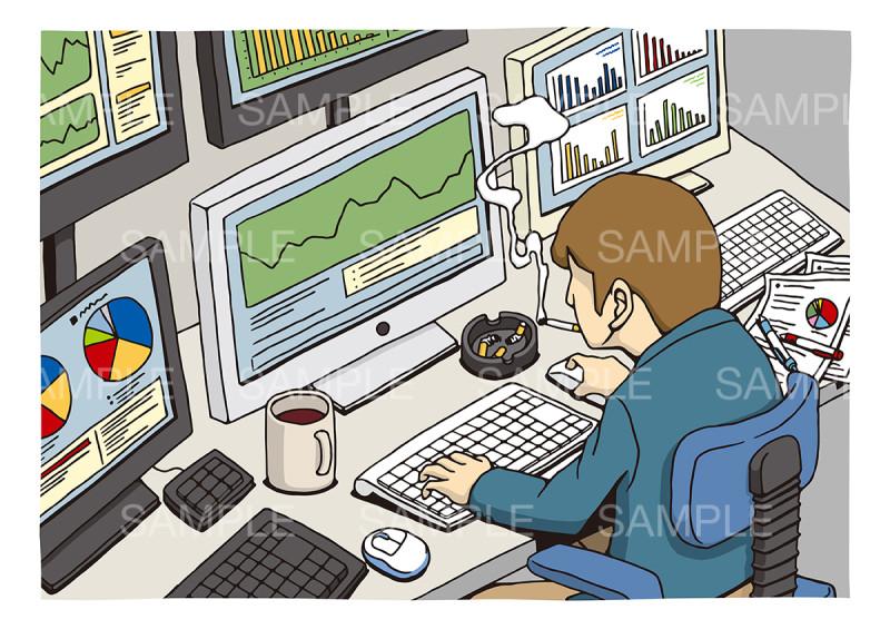 個人投資・株関連のイメージイラスト
