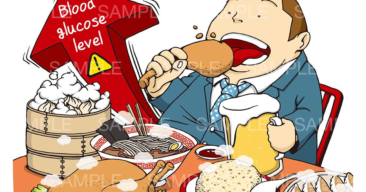 糖尿病やメタボのイメージイラスト