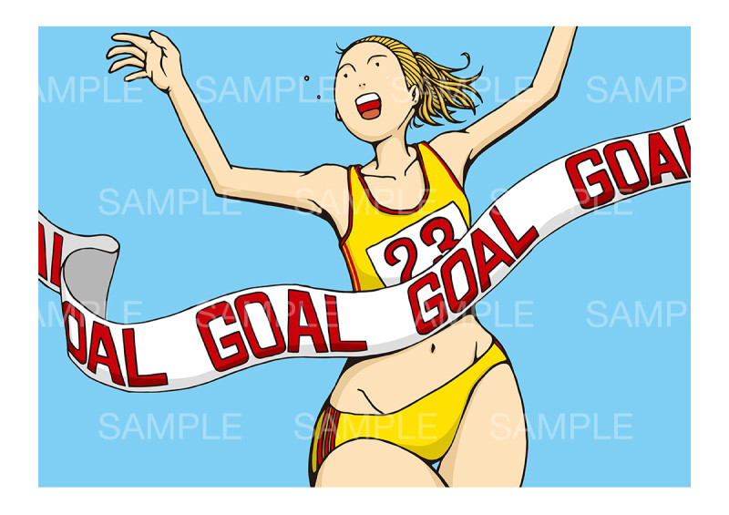 「女子マラソン」のイメージイラスト