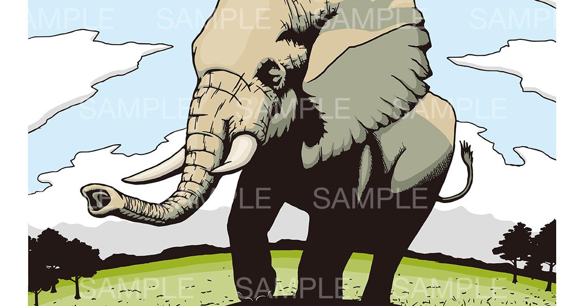 象のイメージイラスト