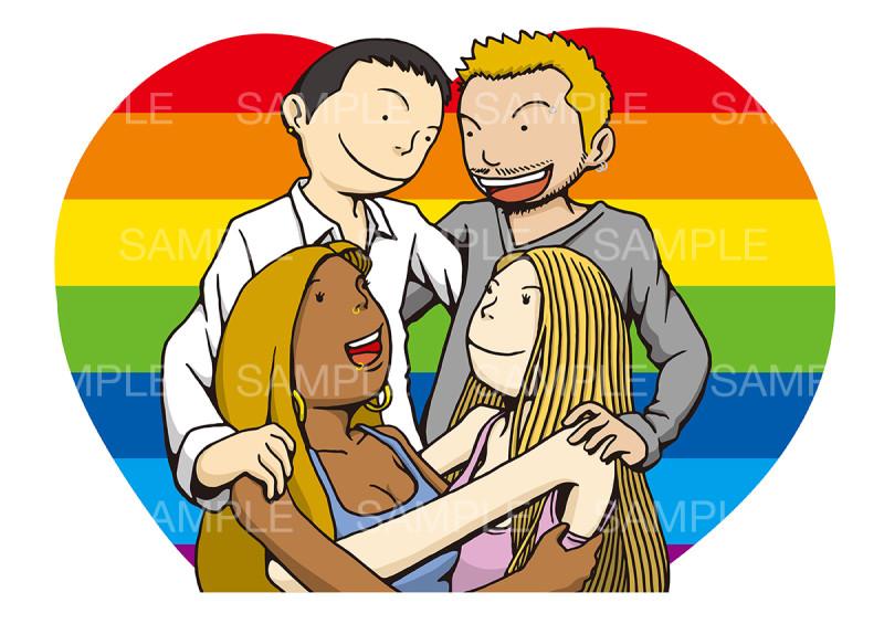 〝LGBT〟のイメージイラスト